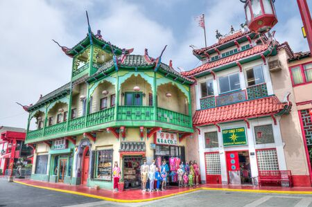 LOS ANGELES, USA - JUNE 14TH: The colorful Chinatown on June 14, 2015. Officially, Chinatown was founded onJune 25, 1938 in Los Angeles