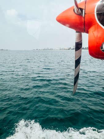 Hydroplane at the maldives