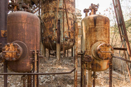 Abandoned Union Carbide Pesticide Factory, Bhopal, India Imagens