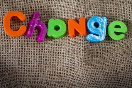 Change Dictionary Definition Low key close up Stock Photo - 9010397