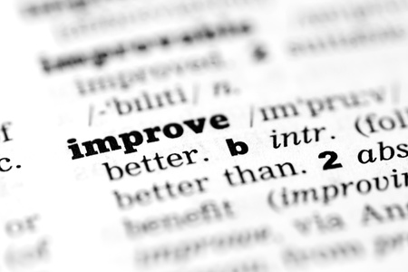 Improve - Dictionary Definition Stock Photo