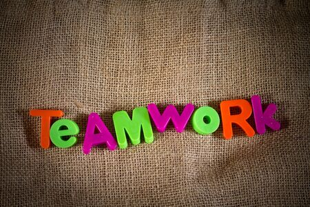 Teamwork Dictionary Definition Low key close up Stock Photo - 9431731