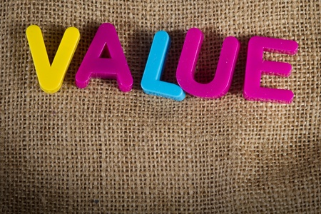 Value Dictionary Definition Low key close up Stock Photo - 9431911