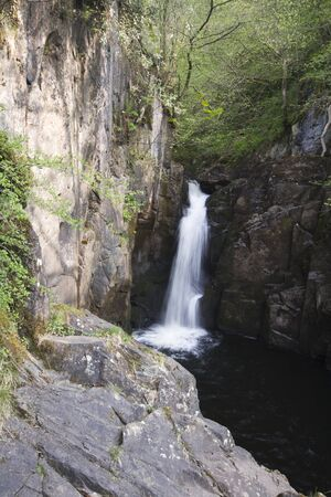 Waterfall in the Yorksire Dales Yorkshire UK