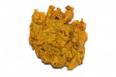 onion bhaji: onion bhaji isolated on a white background