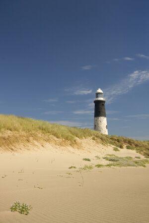 spurn: Lighthouse at Spurn Point in yorkshire England