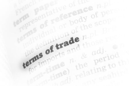 Terms of trade Dictionary Definition close up Stock Photo - 14739347