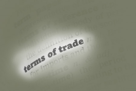 Terms of trade Dictionary Definition close up Stock Photo - 14739354