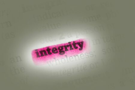 Integrity  Dictionary Definition highlighted in dictionary closeup Stock Photo - 14739370