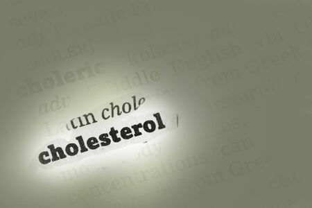 Cholesterol  Dictionary Definition single word with soft focus Stock Photo - 14739357