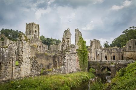 Fountains Abbey mittelalterliche Kloster North Yorkshire England