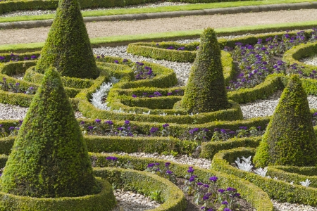 Formal garden shot in yorkshire England Europe