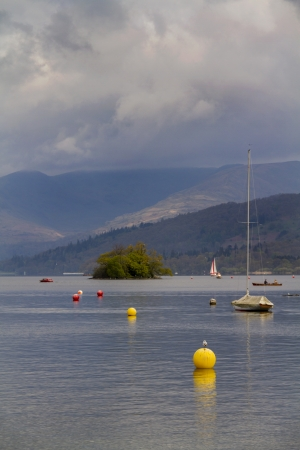 lake district england: Lake Windermere in the lake District England