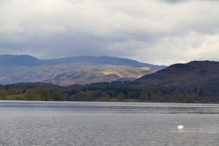 Lake Windermere in the lake District England Stock Photo - 15611771