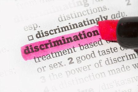 Discrimination  Dictionary Definition single word with soft focus