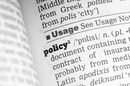 Policy  Dictionary Definition single word with soft focus