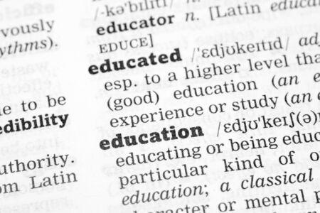 soft focus: Diccionario Definici�n Educaci�n palabra con enfoque suave