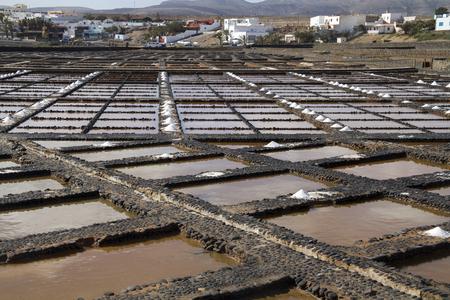 carmen: Fresh sea salt  Salinas del Carmen  Fuerteventura  Stock Photo