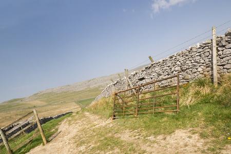 yorkshire dales: El Parque Nacional de Yorkshire Dales Id�lico Foto de archivo