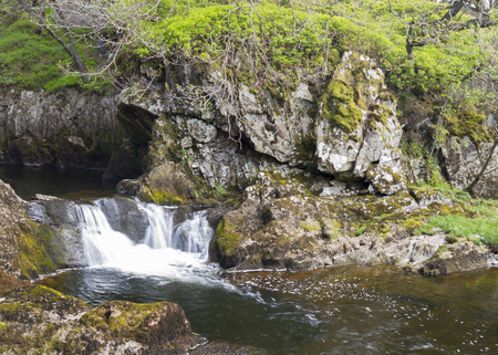 The Idyllic Waterfalls of the Yorkshire Dales National Park Stock Photo