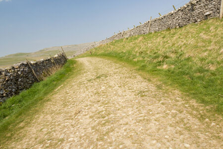 dales: roman road in the Yorkshire Dales National Park Stock Photo
