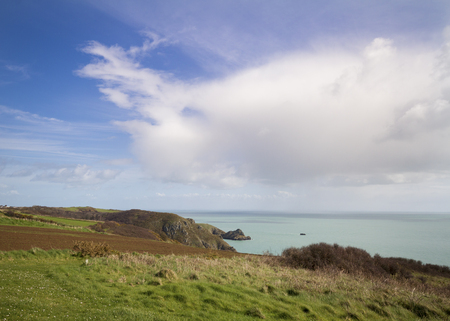 Coastal scene on Sark  looking out over the English Channel