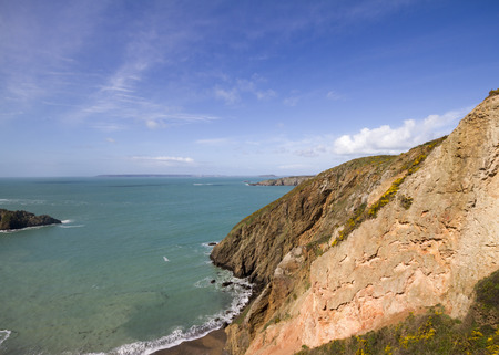 sark: Coastal scene on Sark  looking out over the English Channel