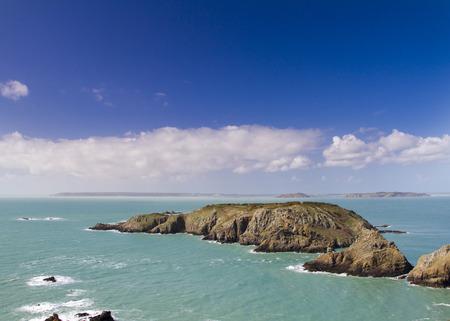 Coastal scene on the Channel Islands