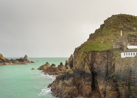 guernsey: Coastal scene on Sark  looking out over the English Channel