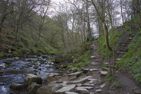 rambling: Hardcastle Crags nature park, Hebden Bridge,