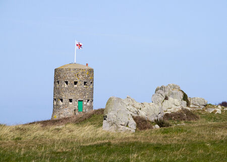 The British built 15 Guernsey loophole towers at various points along the coast of Guernsey between August 1778 and March 1779 to deter  possible French attacks One of the 15 loophole towers in Guernsey that guard the coastline.