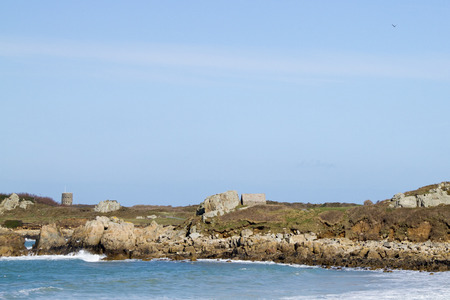 loophole: The British built 15 Guernsey loophole towers at various points along the coast of Guernsey between August 1778 and March 1779 to deter  possible French attacks One of the 15 loophole towers in Guernsey that guard the coastline.