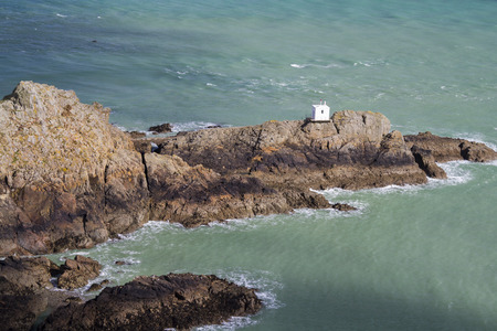 guernsey: View of Jerbourg Point on Guernsey Channel islands