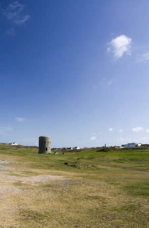 loophole: loophole towers on a golf course in Guernsey channel islands