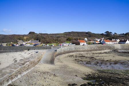 guernsey: Coastal scene on Guernsey  Channel Islands UK