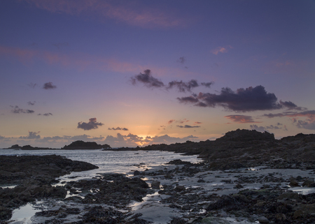 guernsey: Sunset on guernsey Channel Islands UK