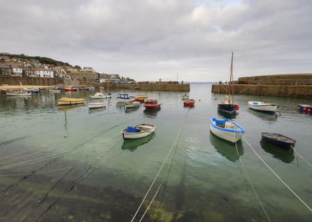 mousehole: Mousehole Harbour near Penzance Cornwall England UK Europe