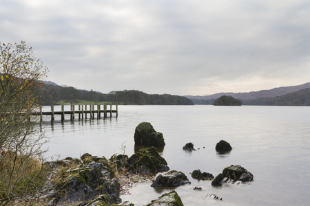cumbria: coniston water in the Lake district cumbria Stock Photo