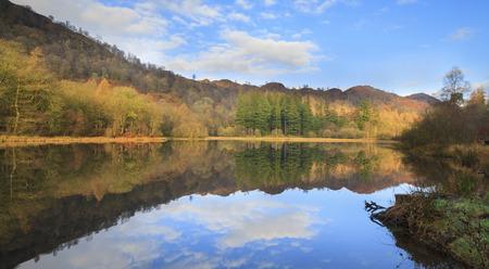 typically english: autumn lake in the lake district Stock Photo