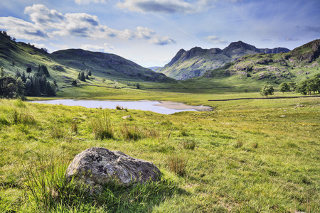 countryside landscape: blea tarn in the lake district cumbria UK Stock Photo