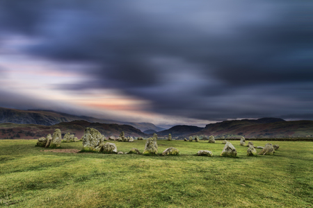 stone circle: Castlerigg Stone Circle is situated near Keswick in the Lake District UK