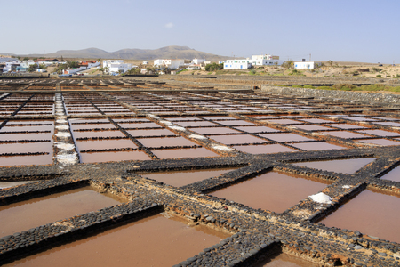 evaporation: Evaporation ponds for sea salt production
