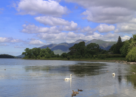 cumbria: Beautiful picturesque lake district in cumbria UK