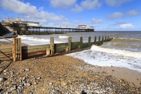 Cromer Pier in North Norfolk England UK Standard-Bild