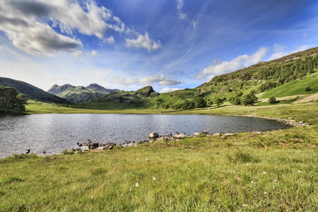 langdale pikes: blea tarn in the lake district cumbria UK Stock Photo