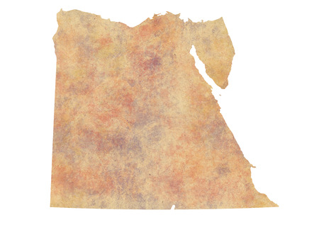 Watercolor Map of Egypt Stock Photo