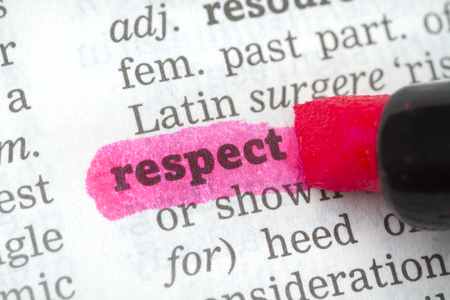 pronunciation: Dictionary definition of the word Respect
