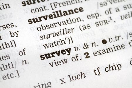 definición: Definición del diccionario de la palabra Encuesta