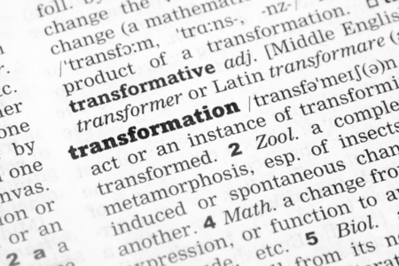 Dictionary definition of the word Transformation