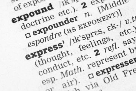 definition define: Dictionary definition of the word express